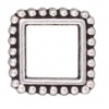 Bead Frame Beaded Square 8mm Antique Silver